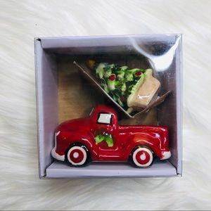 NIB Salt and Pepper Shaker | Christmas Truck Tree